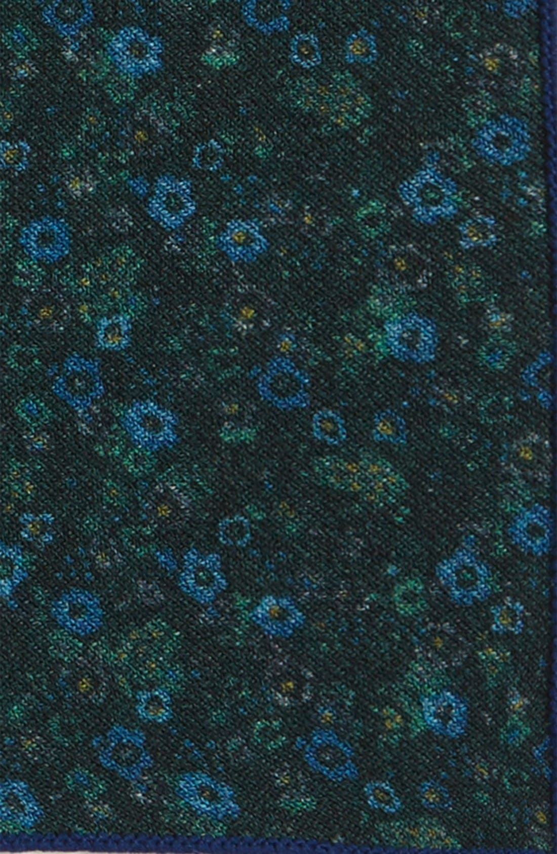 Alternate Image 3  - The Tie Bar Floral Wool Pocket Square