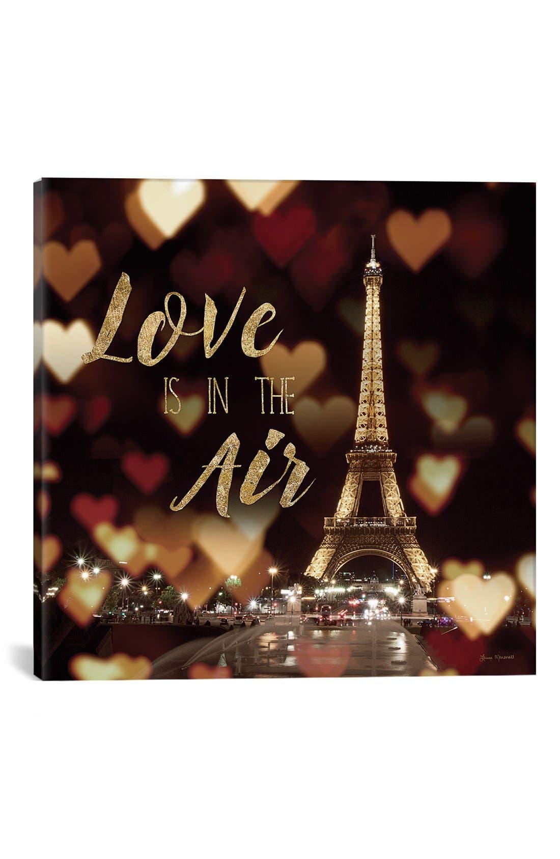 'Love is in the Air' Giclée Print Canvas Art,                             Main thumbnail 1, color,                             Black