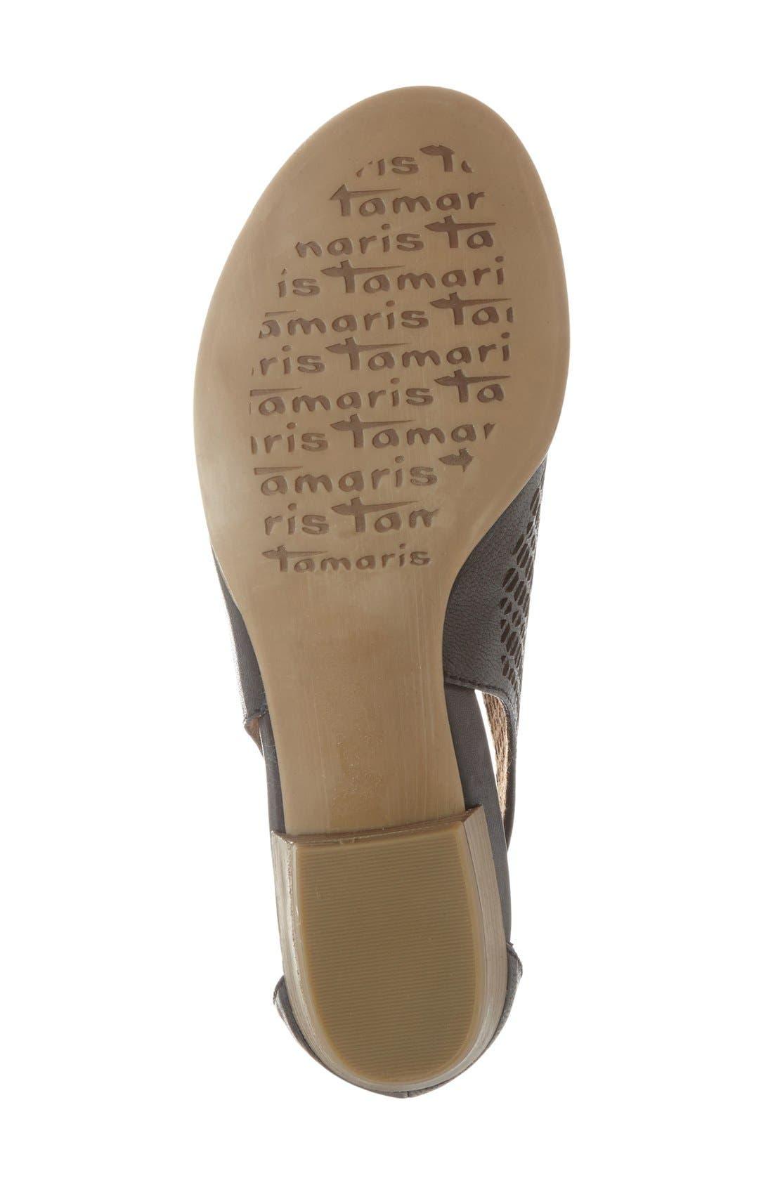 'Nao' Open Toe Sandal,                             Alternate thumbnail 4, color,                             Black Leather