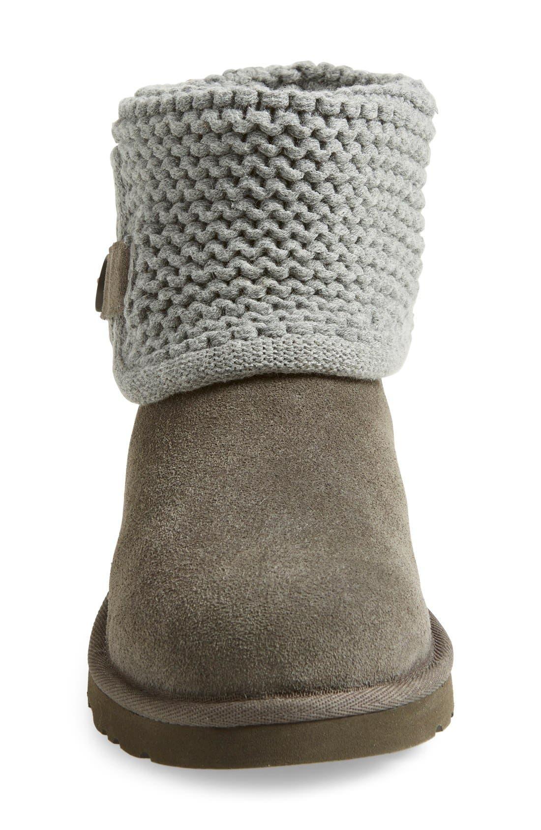 Alternate Image 3  - UGG® Darrah Purl Knit Cuff Boot (Little Kid & Big Kid)