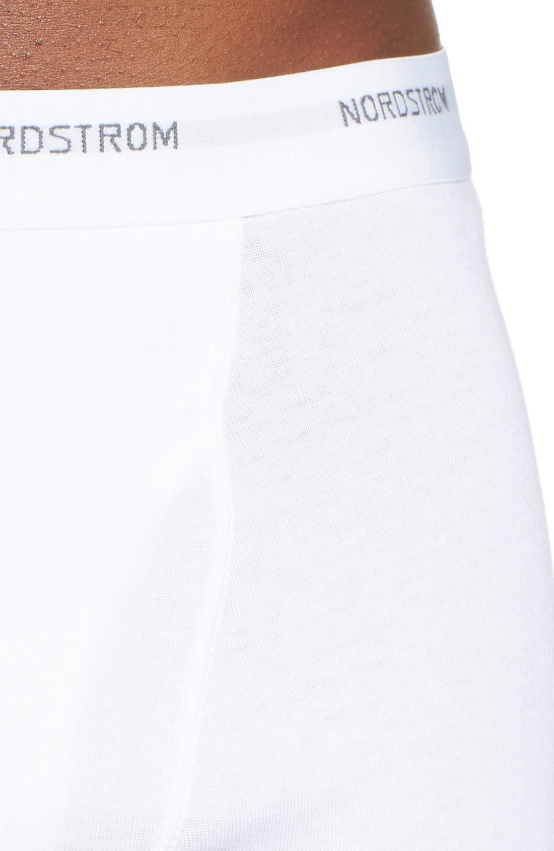 3-Pack Supima<sup>®</sup> Cotton Boxer Briefs,                             Alternate thumbnail 4, color,                             White