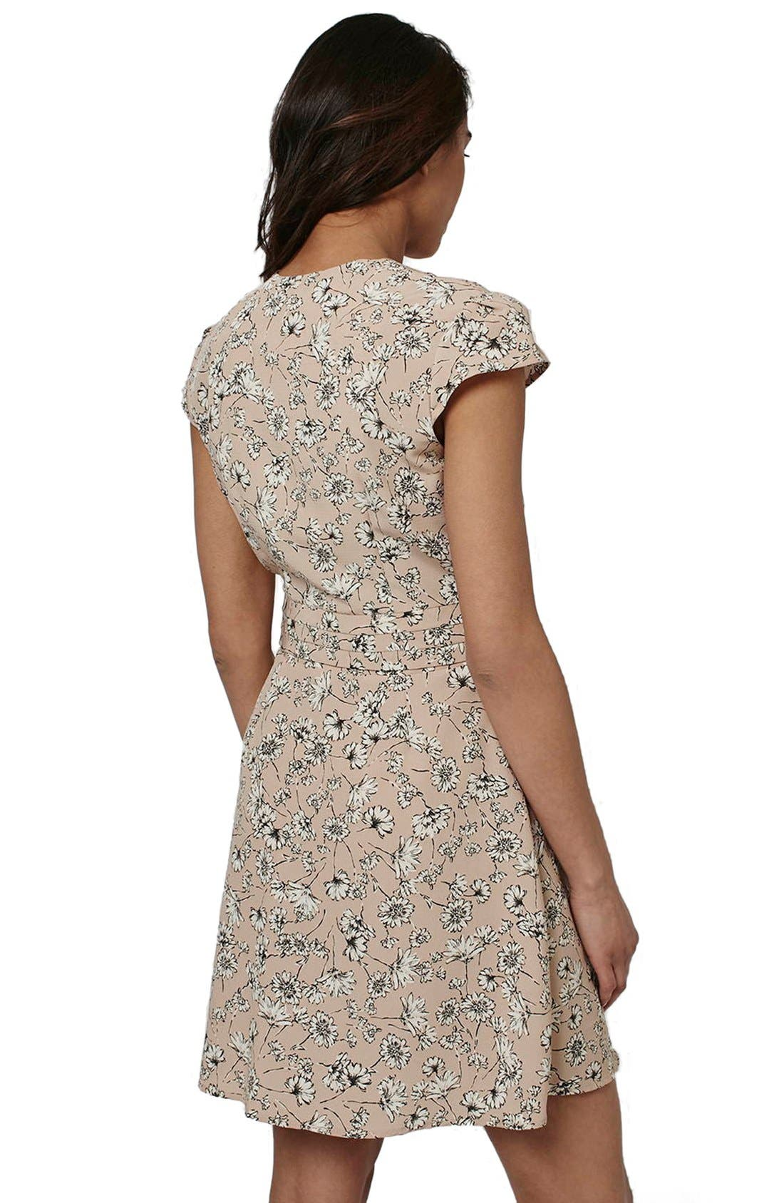 Alternate Image 2  - Topshop 'Dog Daisy' Print Button Front Dress