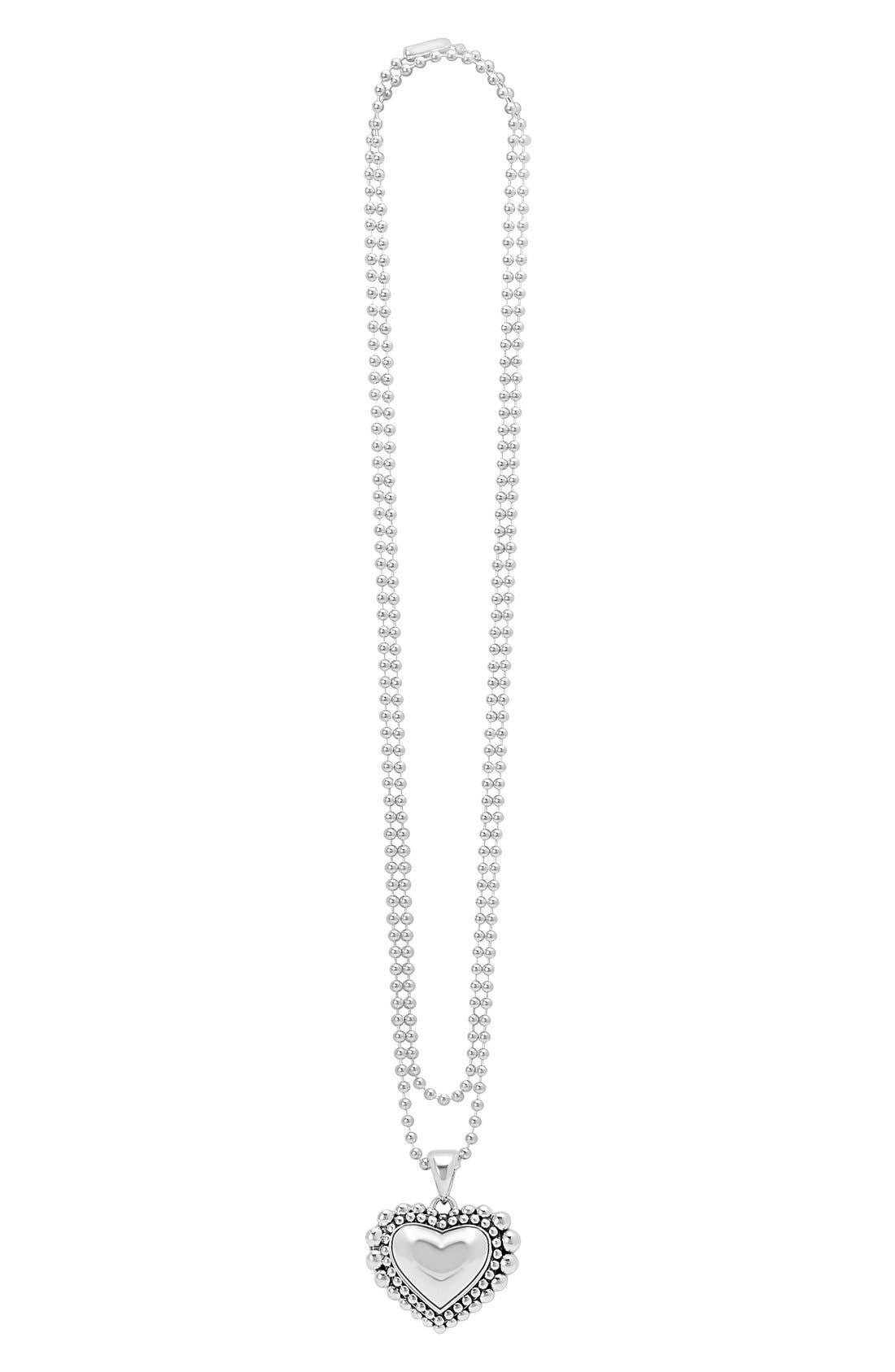 LAGOS Long Heart Pendant Necklace