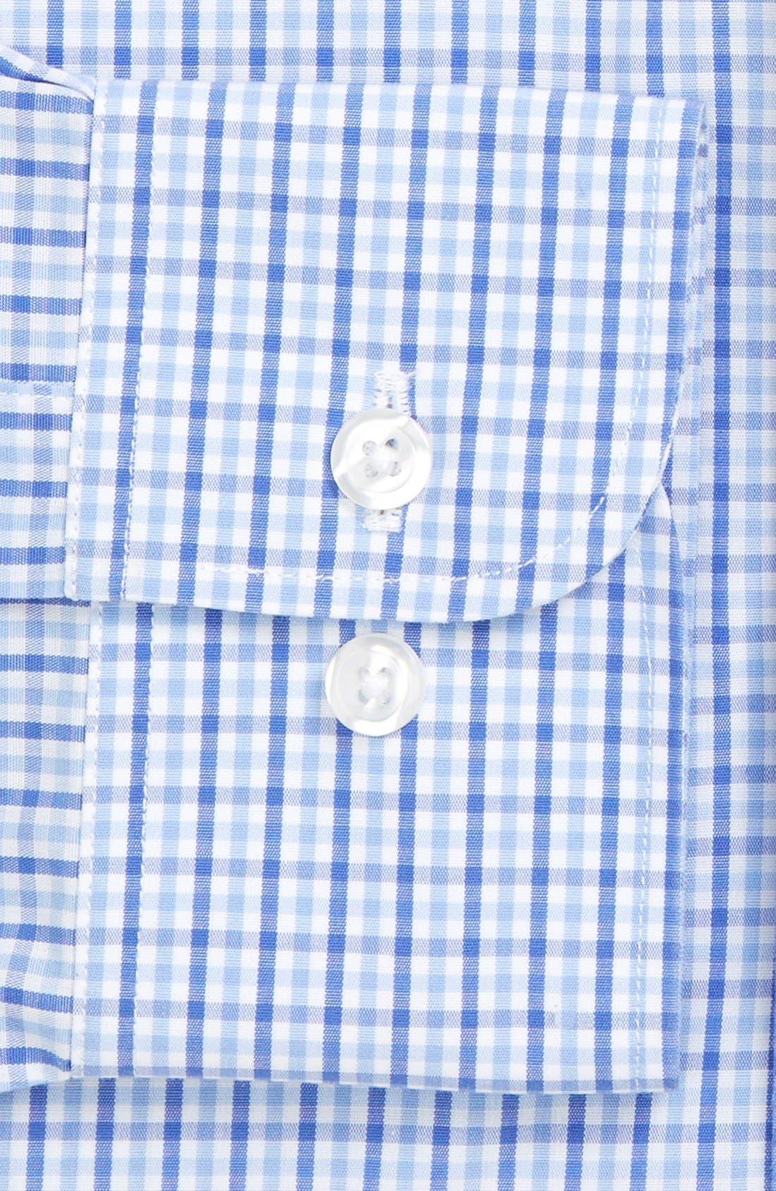 Slim Fit Wrinkle Free Check Dress Shirt,                             Alternate thumbnail 3, color,                             Pale Blue