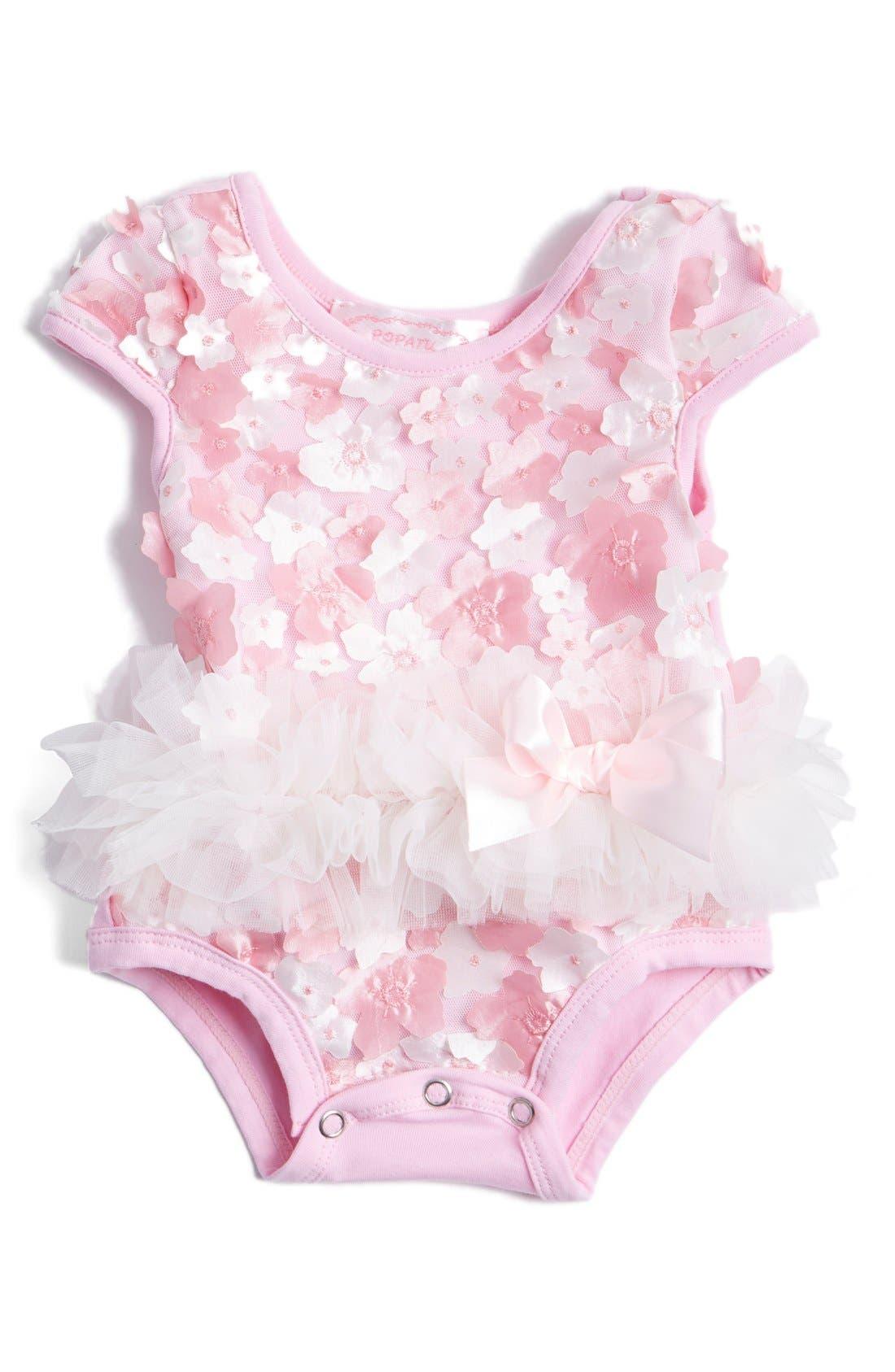 Tulle Bodysuit,                             Main thumbnail 1, color,                             Pink