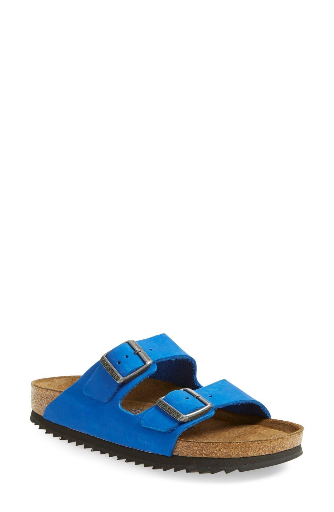 'Arizona' Sandal,                             Main thumbnail 1, color,                             Blue Nubuck
