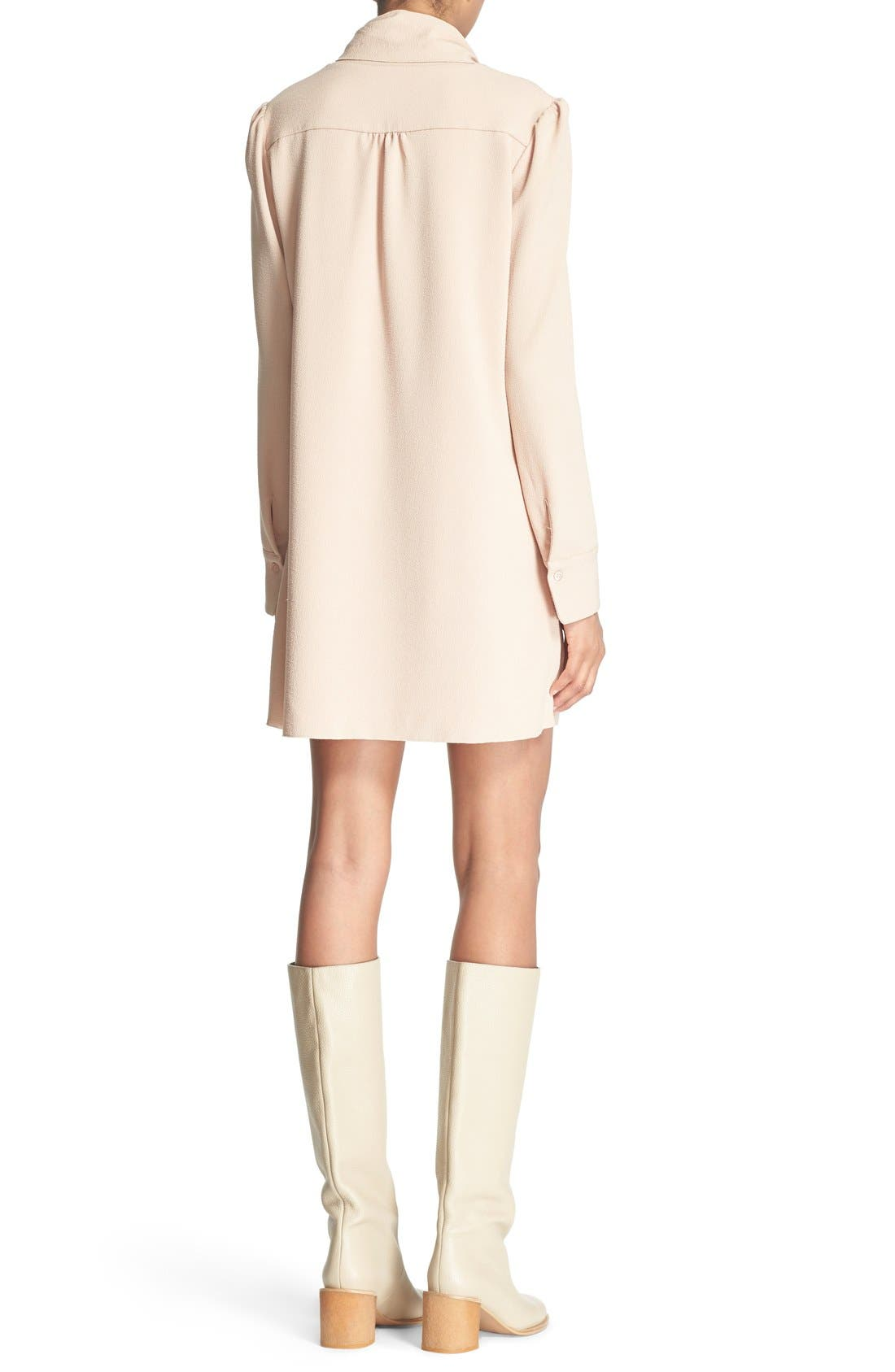 Alternate Image 2  - See by Chloé Tie Neck Crepe Dress
