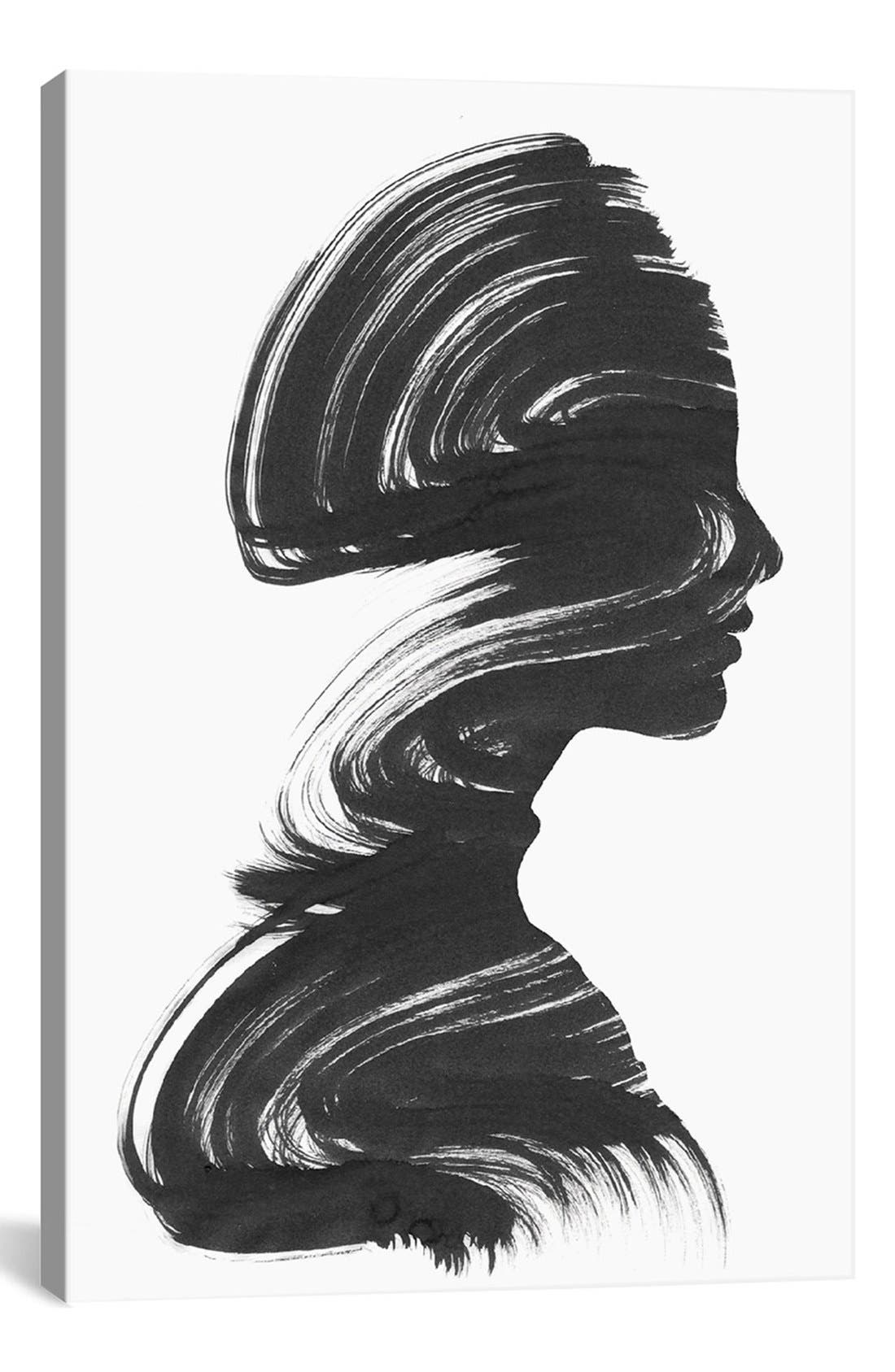 'See' Giclée Print Canvas Art,                             Main thumbnail 1, color,                             White
