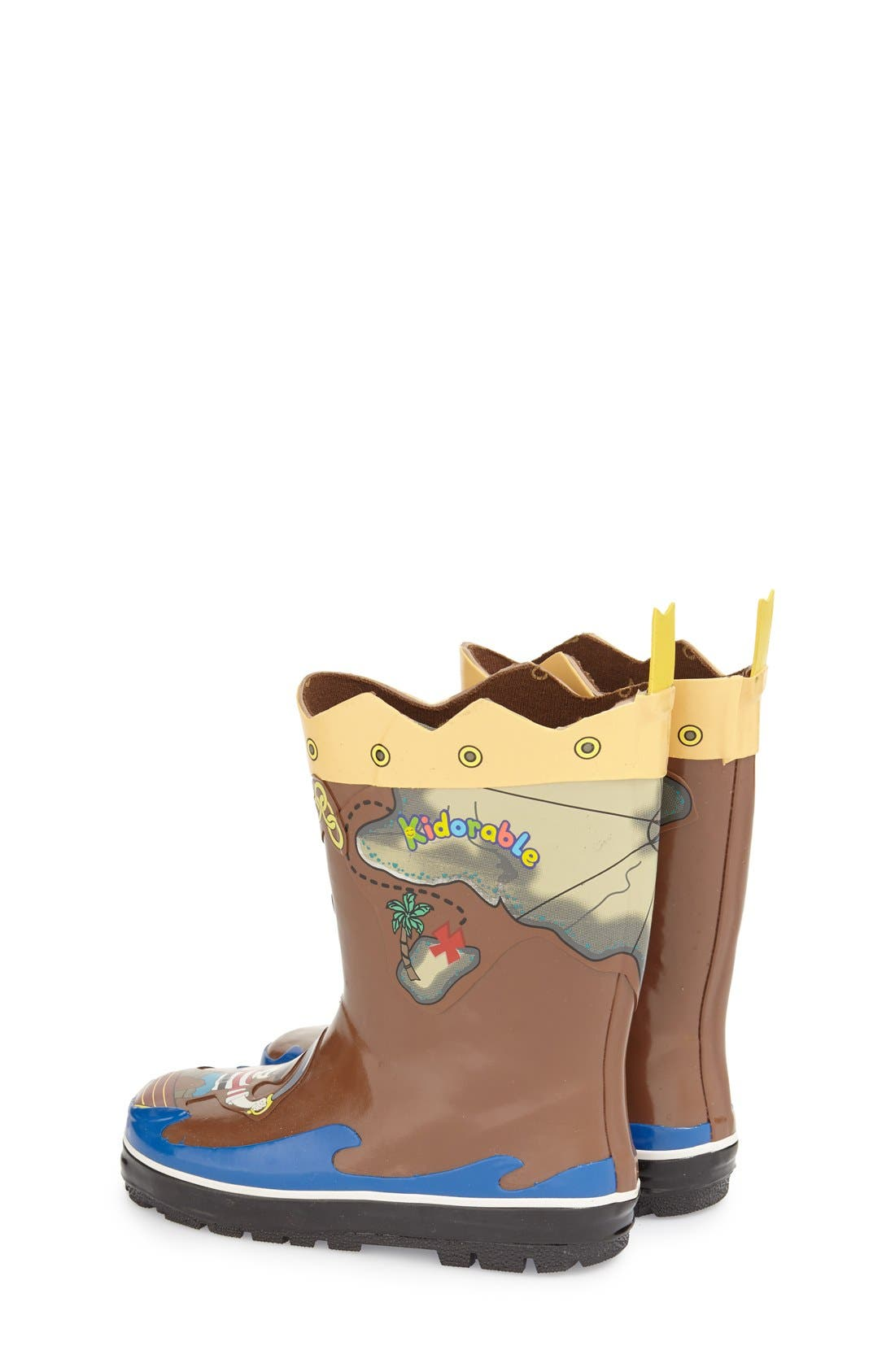 'Pirate' Waterproof Rain Boot,                             Alternate thumbnail 2, color,                             Brown
