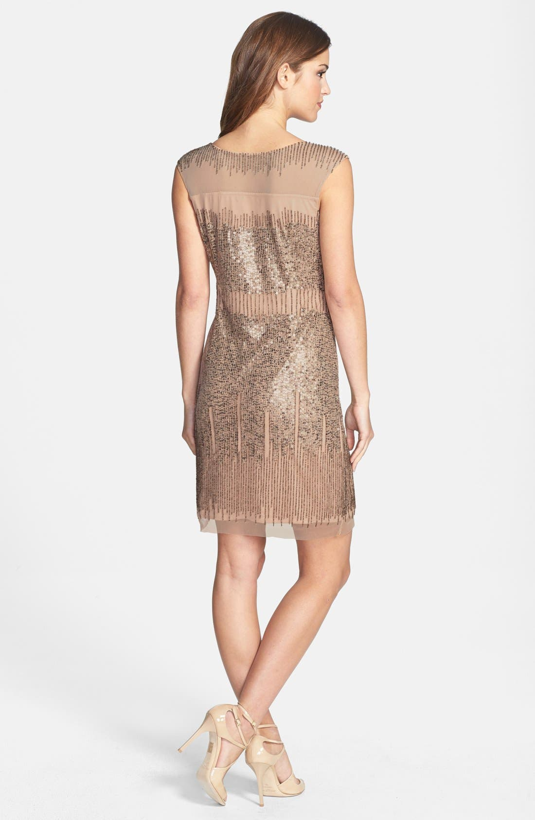 Alternate Image 2  - Adrianna Papell Illusion Yoke Beaded Sheath Dress
