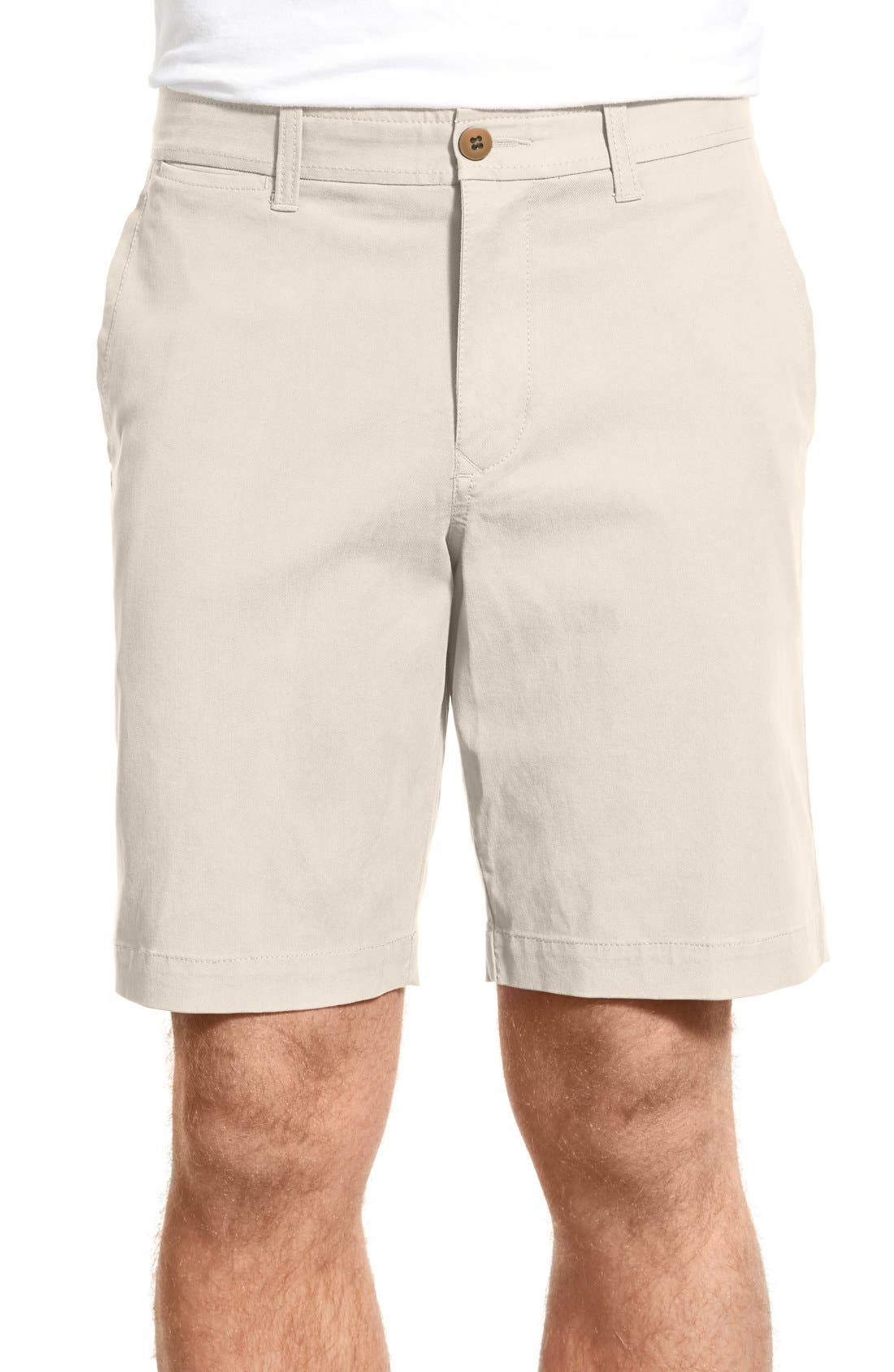 'Offshore' Flat Front Shorts,                             Main thumbnail 1, color,                             Spray