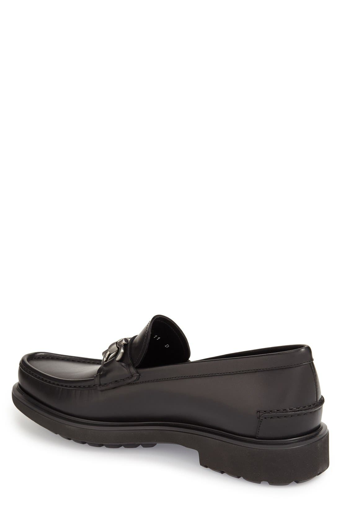Loafer,                             Alternate thumbnail 2, color,                             Nero Leather