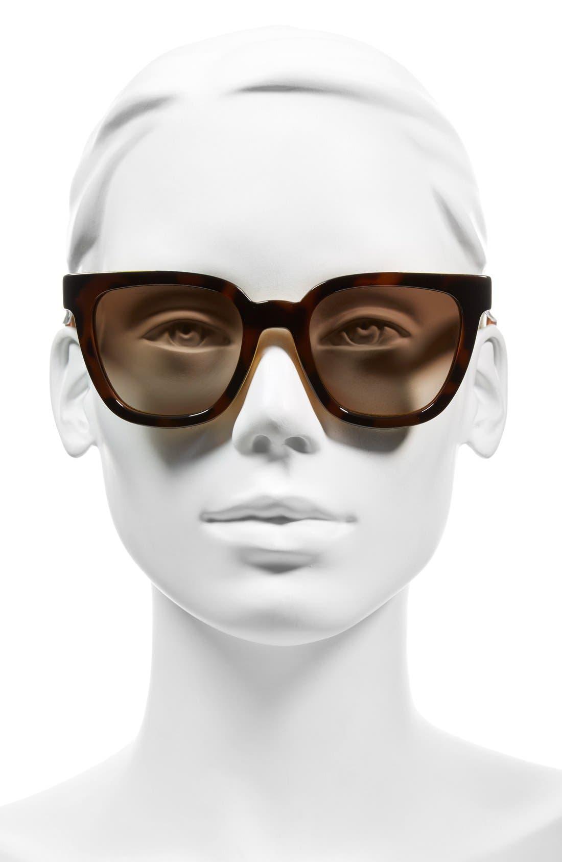 51mm Sunglasses,                             Alternate thumbnail 2, color,                             Havana
