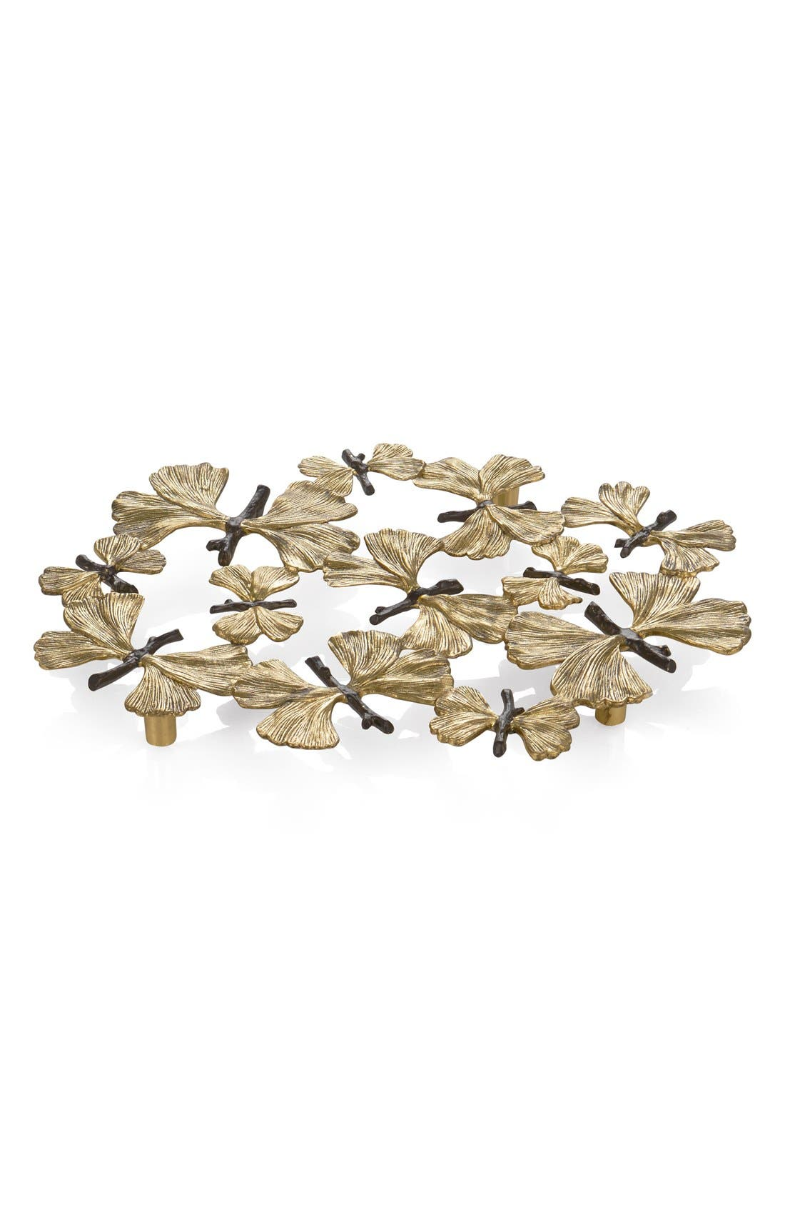 'Butterfly Ginkgo' Trivet,                         Main,                         color, Gold