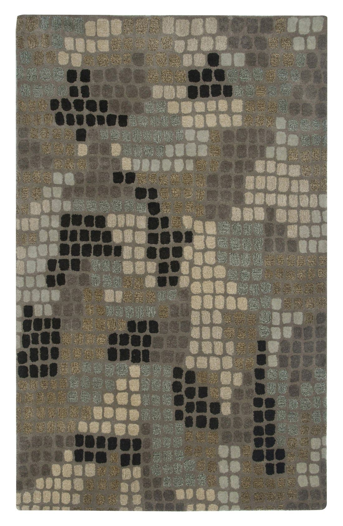 'Pandora Collection' Hand Tufted Wool Blend Area Rug,                         Main,                         color, Grey/ Multi