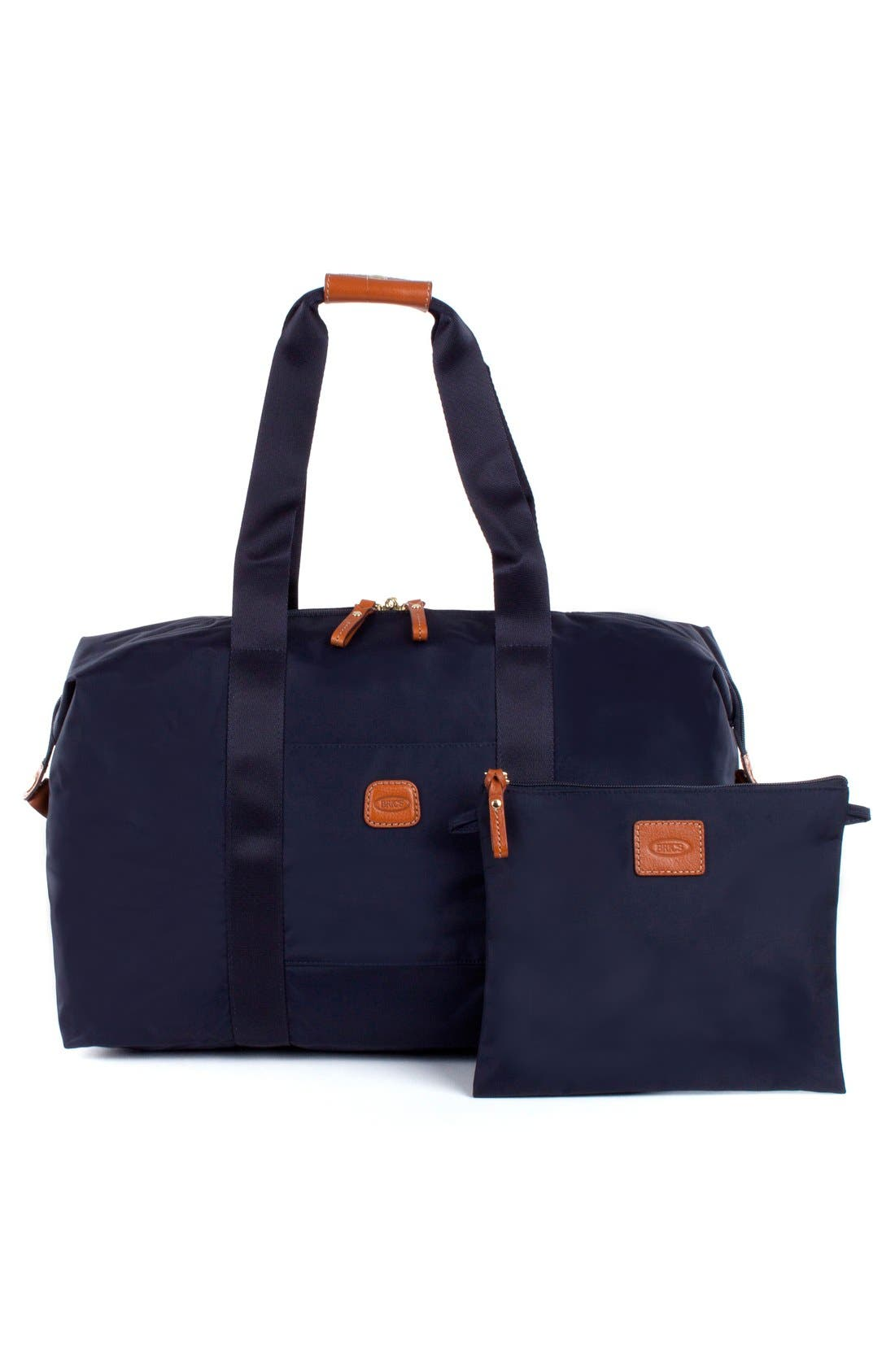 'X-Bag' Folding Duffel Bag,                             Alternate thumbnail 5, color,                             Navy