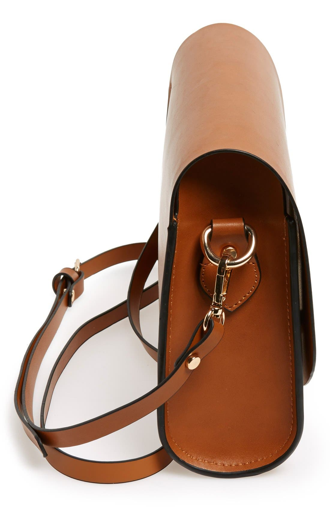 Alternate Image 5  - Cesca Faux Leather Crossbody Bag