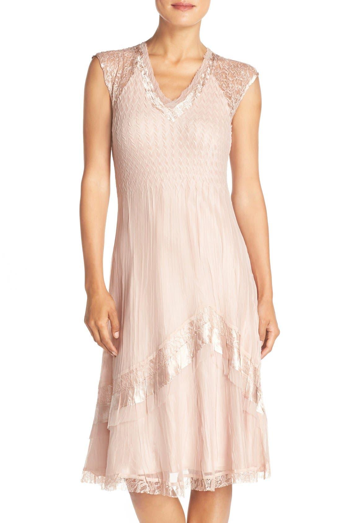 Main Image - Komarov Mixed Media A-Line Dress