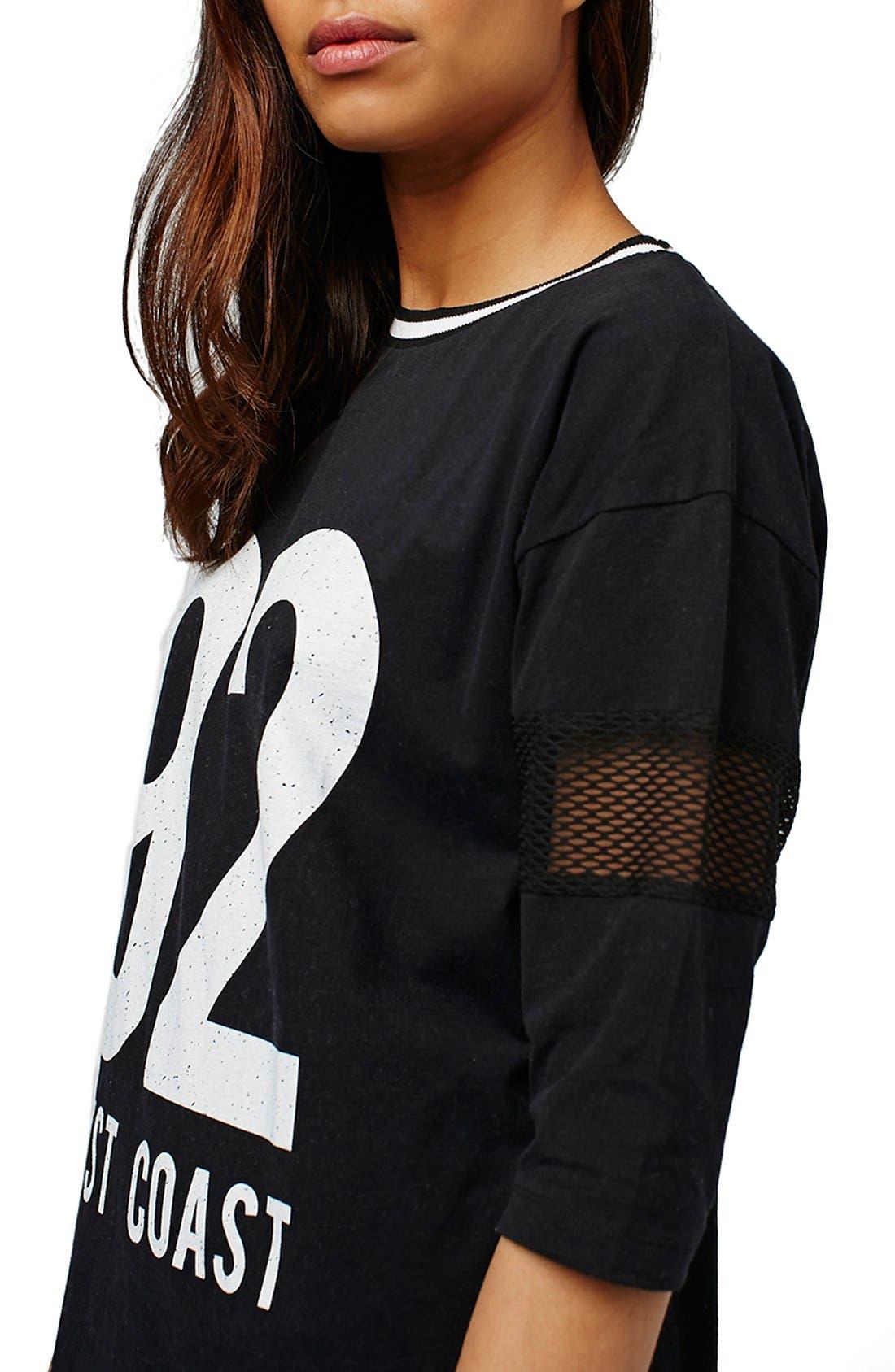 Alternate Image 4  - Topshop 'West Coast' Jersey T-Shirt Minidress