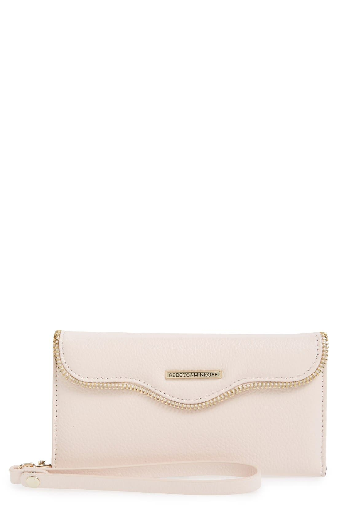 iPhone 6 Plus & 6s Plus Folio Wristlet,                         Main,                         color, Pale Blush