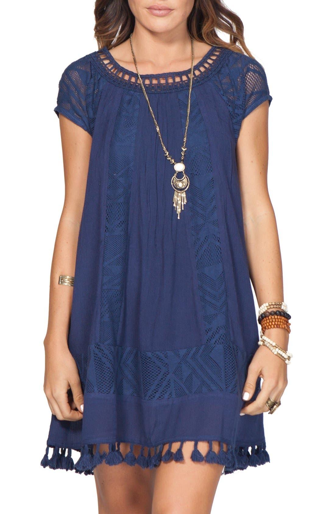 'Lovebird' Dress,                         Main,                         color, Navy