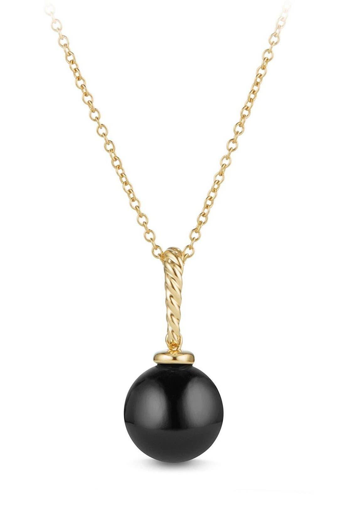 David Yurman 'Solari' Pendant Necklace in 18K Gold
