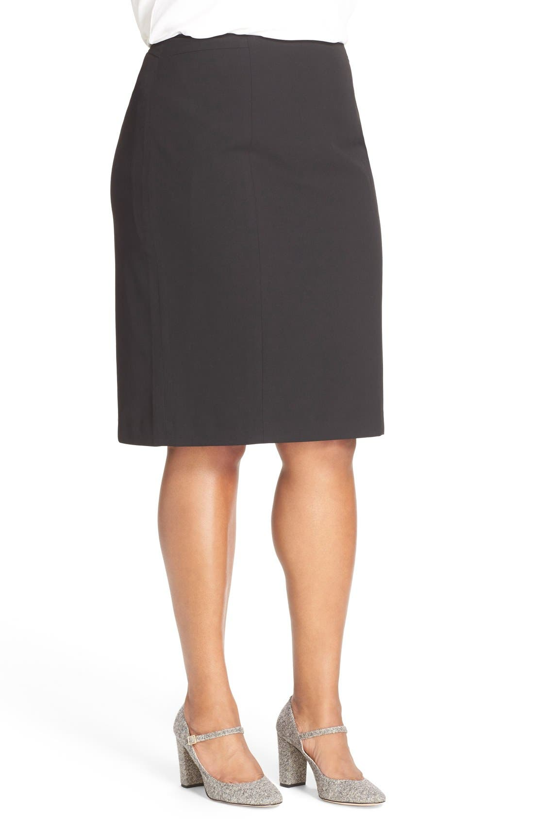 'Ela' Suit Skirt,                             Alternate thumbnail 3, color,                             Black