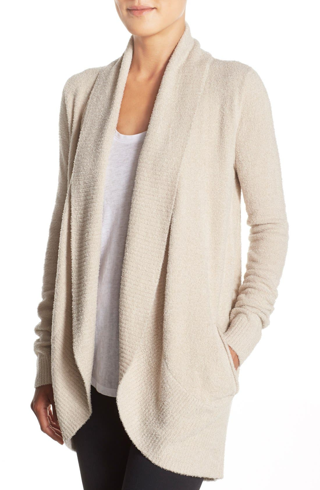 Alternate Image 4  - Barefoot Dreams® CozyChic Lite® Circle Cardigan