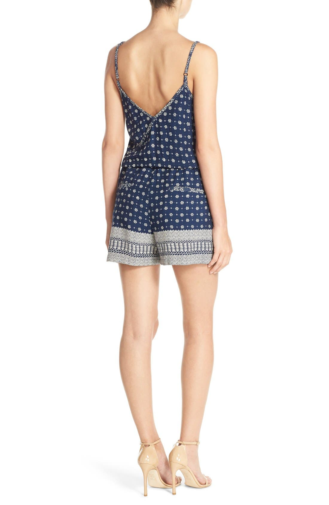 Alternate Image 2  - French Connection 'Castaway' Floral Print Romper
