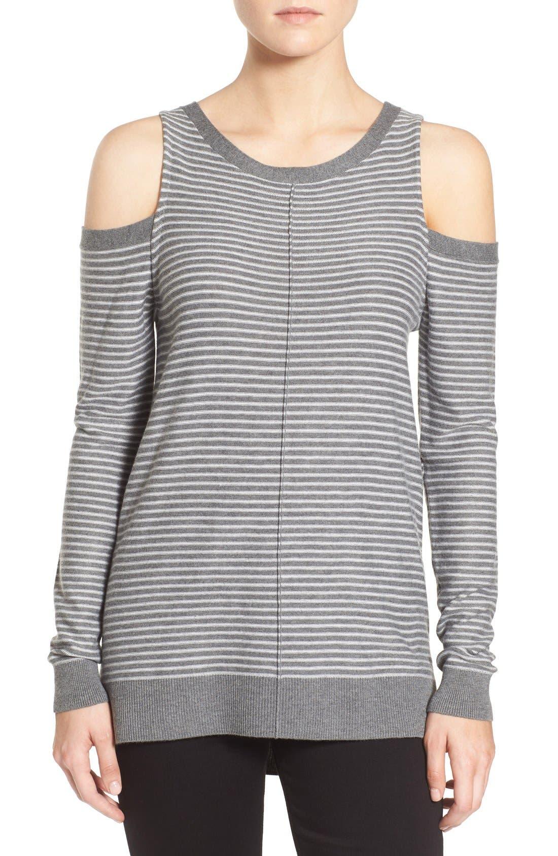 Alternate Image 1 Selected - Trouvé Cold Shoulder Sweater