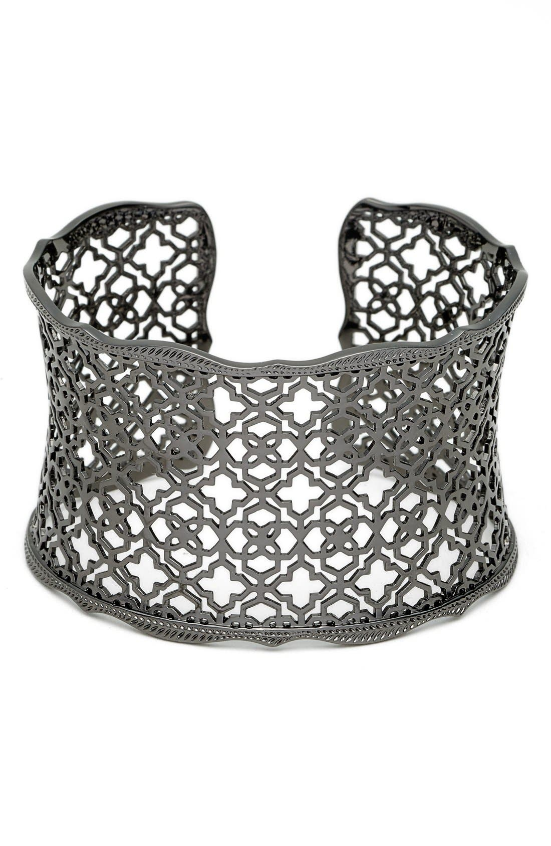 'Mystic Bazaar - Candice' Wide Cuff,                             Main thumbnail 1, color,                             Gunmetal