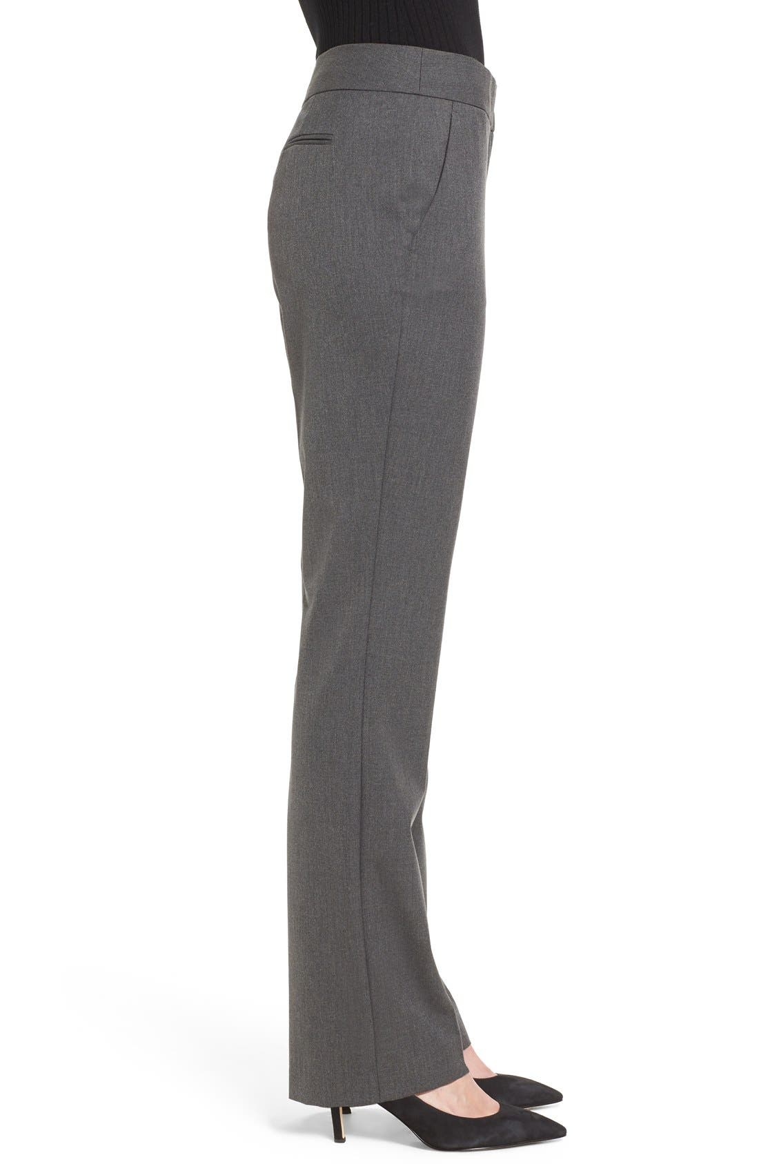 Straight Leg Pants,                             Alternate thumbnail 3, color,                             Dark Heather Grey