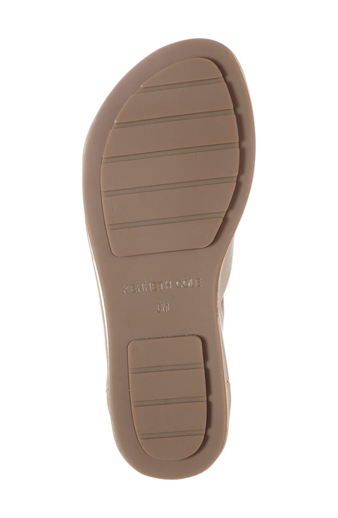 'Ollie' Cage Sandal,                             Alternate thumbnail 4, color,                             Platinum Leather