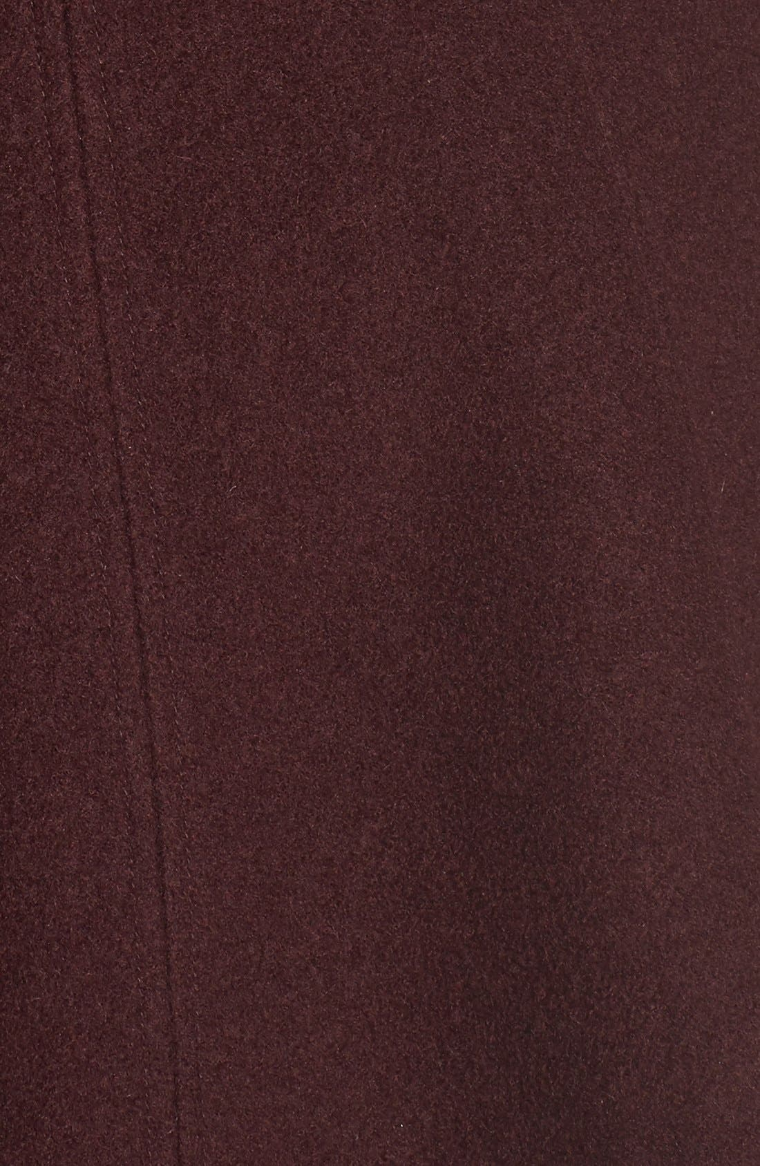 Alternate Image 5  - GUESS Envelope Collar Double Breasted Coat (Regular & Petite)