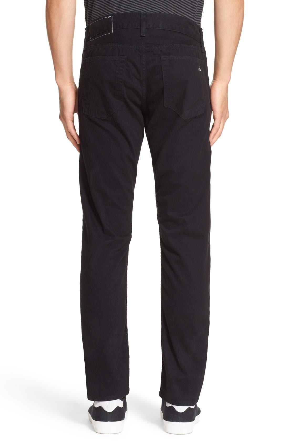 'Fit 2' Cotton Twill Pants,                             Alternate thumbnail 2, color,                             Black