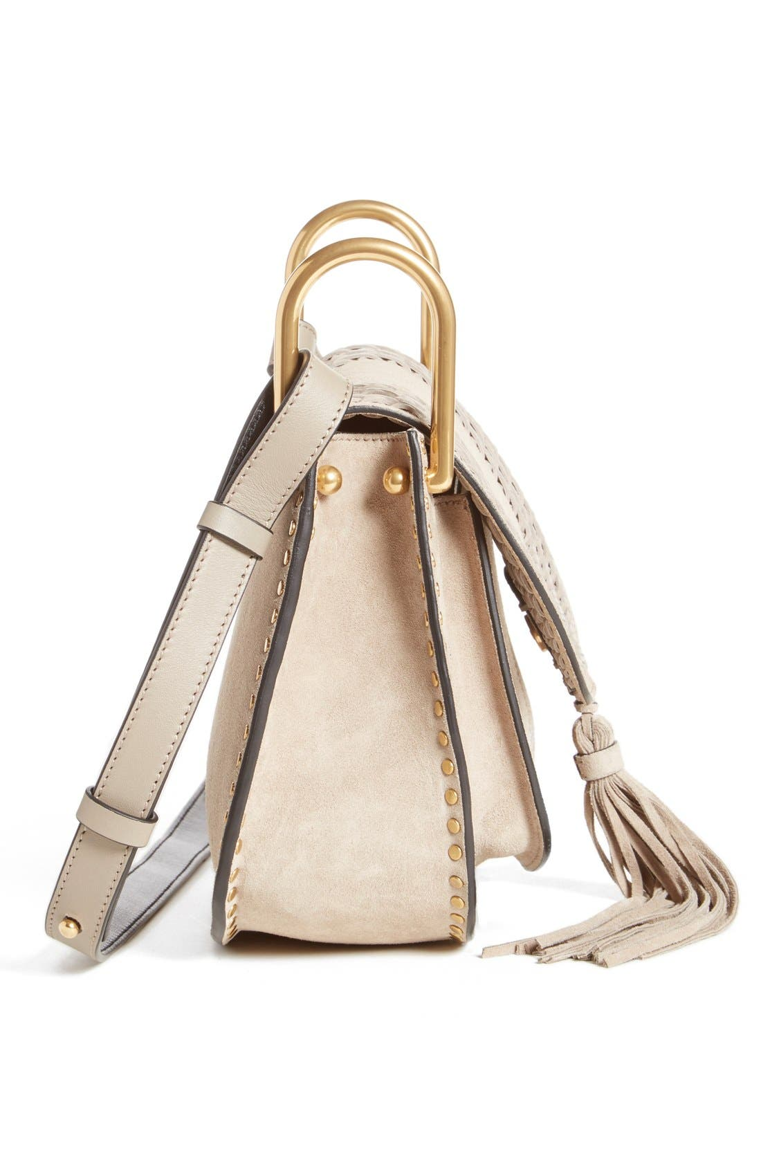 'Small Hudson' Shoulder Bag,                             Alternate thumbnail 3, color,                             Motty Grey