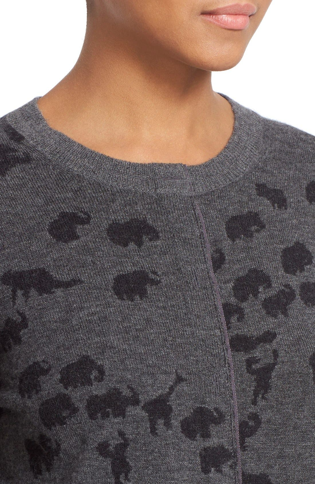 Alternate Image 6  - MARC JACOBS Animal Jacquard Cashmere Sweater