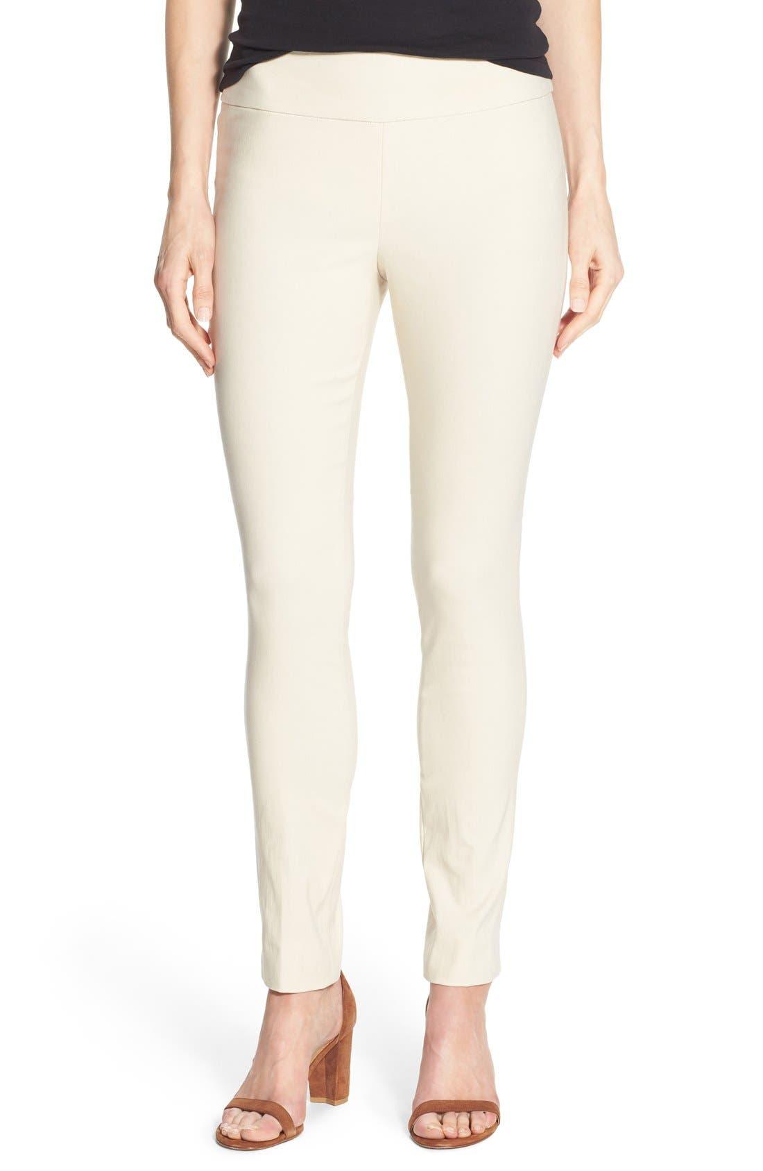 'The Wonder Stretch' Slim Leg Pants,                         Main,                         color, Sandshell