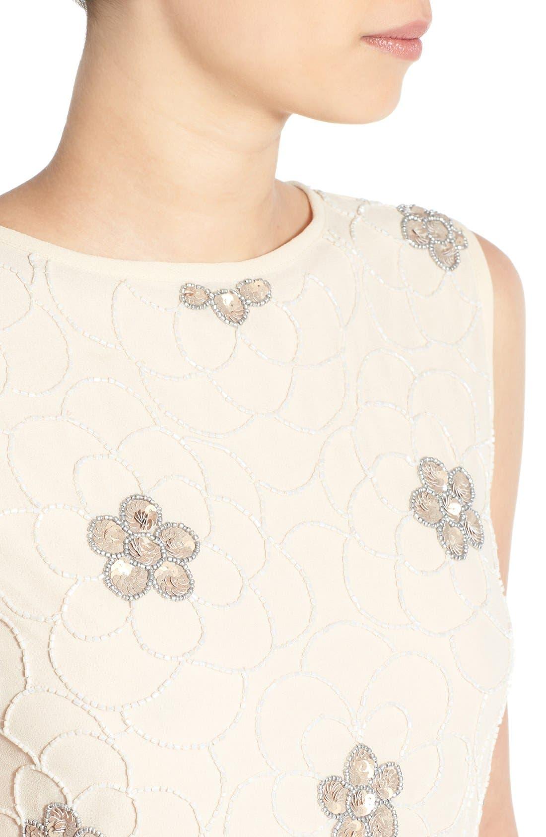 Alternate Image 4  - Lace & Beads 'Sandra' Embellished Skater Dress