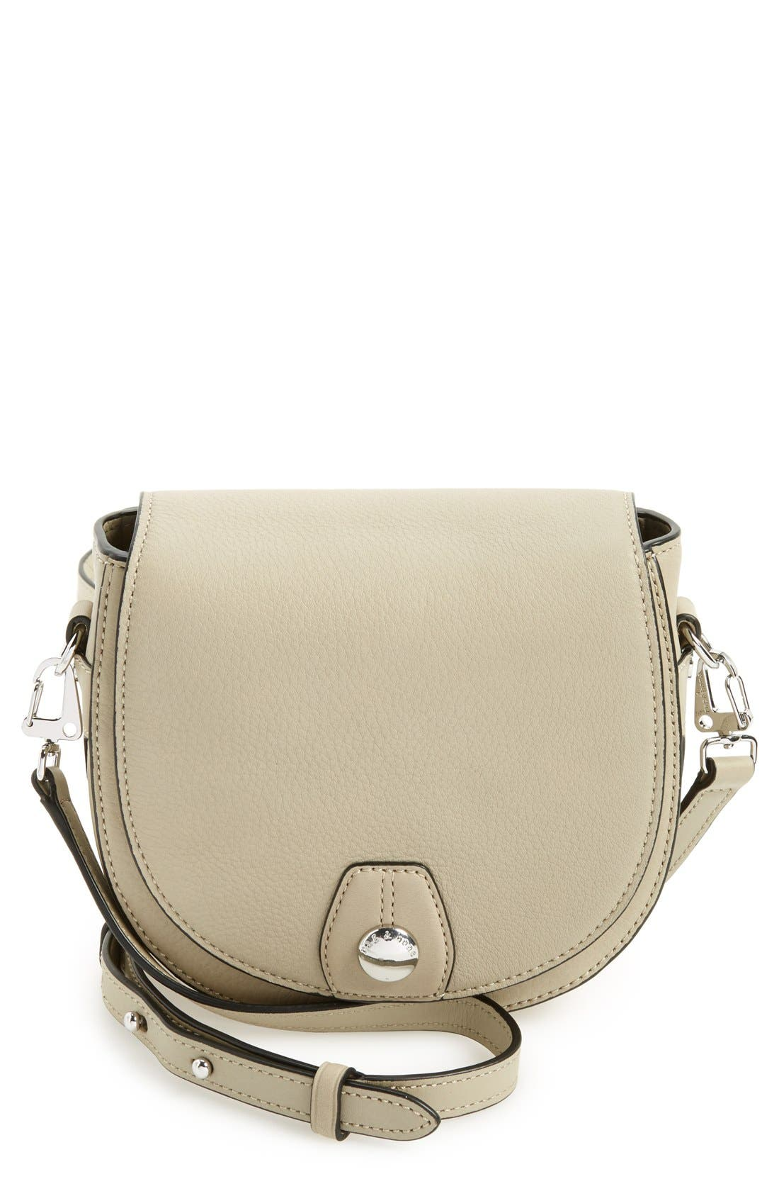 Alternate Image 1 Selected - rag & bone 'Mini Flight' Leather Crossbody Saddle Bag