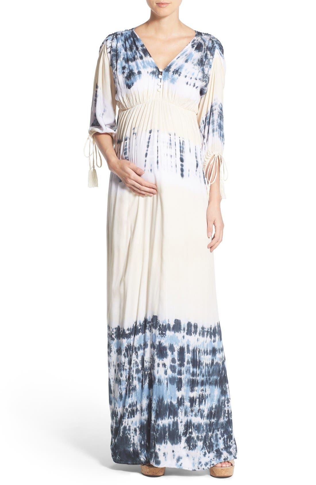 Fillyboo 'Banjo' Tie Dye Maternity Maxi Dress