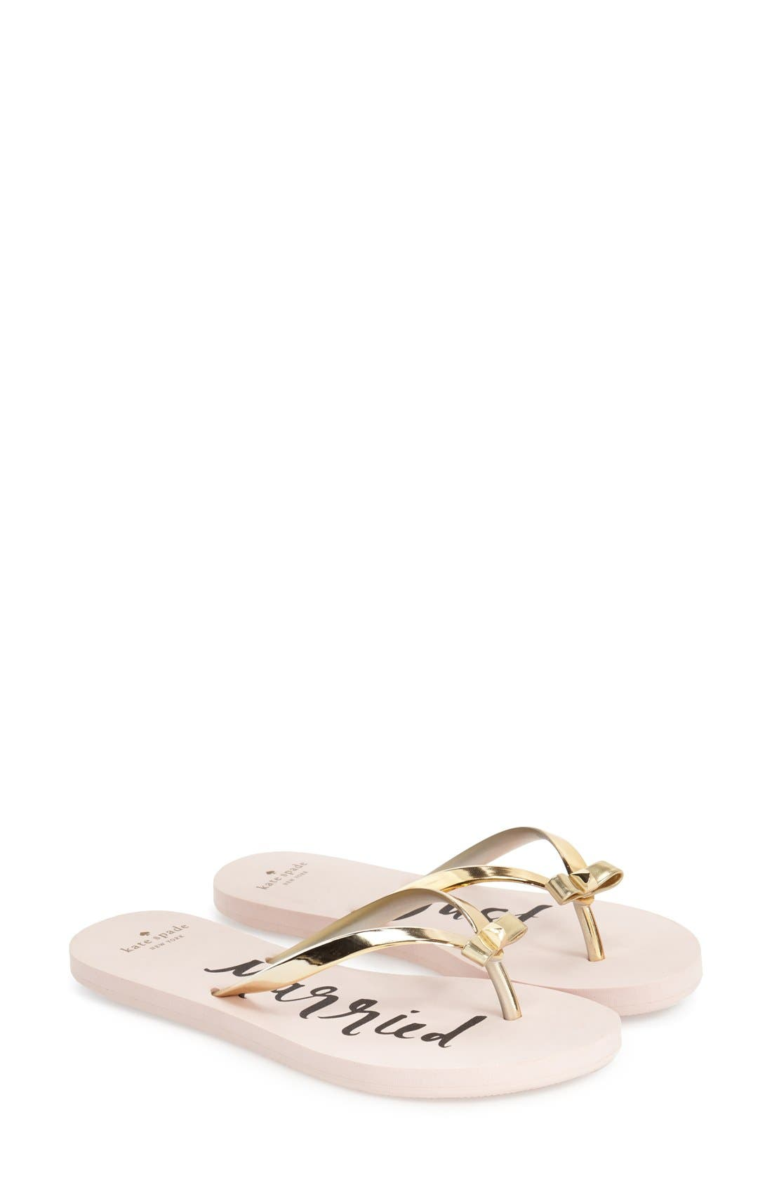 'nadine' flip flop,                         Main,                         color, Gold Coated Rubber