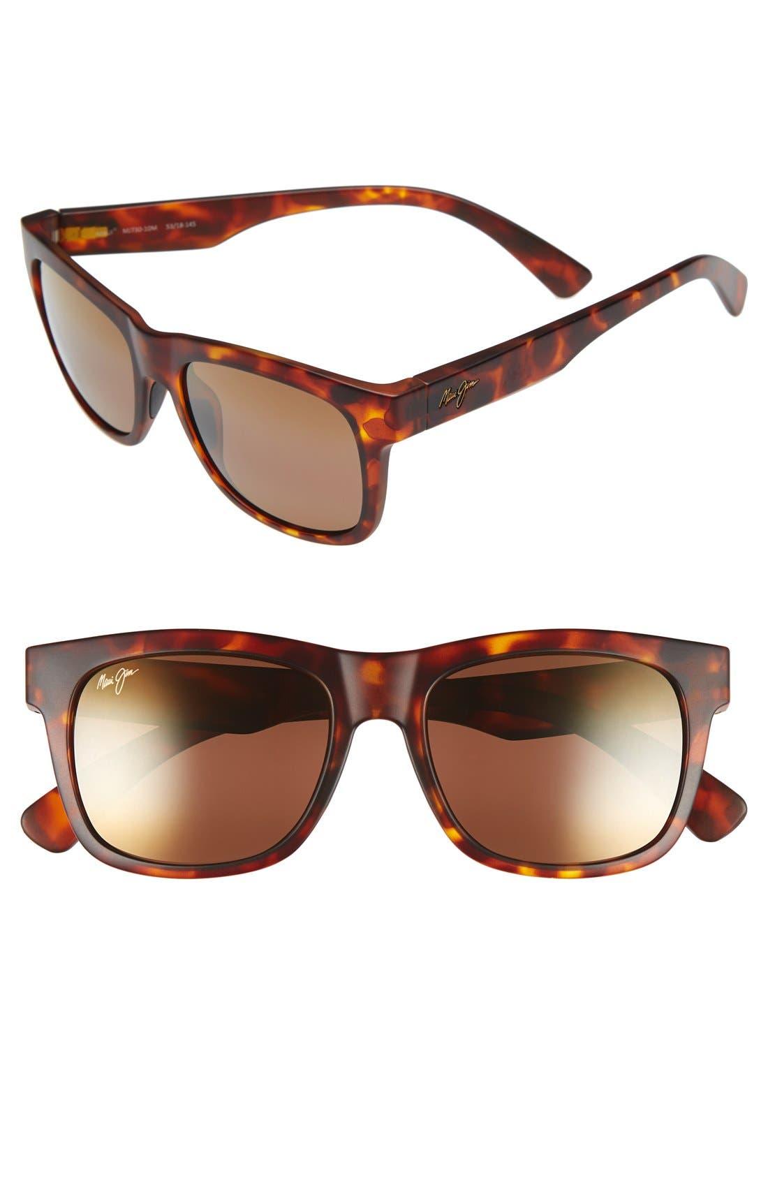 Snapback 53mm PolarizedPlus2<sup>®</sup> Sunglasses,                         Main,                         color, Matte Tortoise/ Hcl Bronze