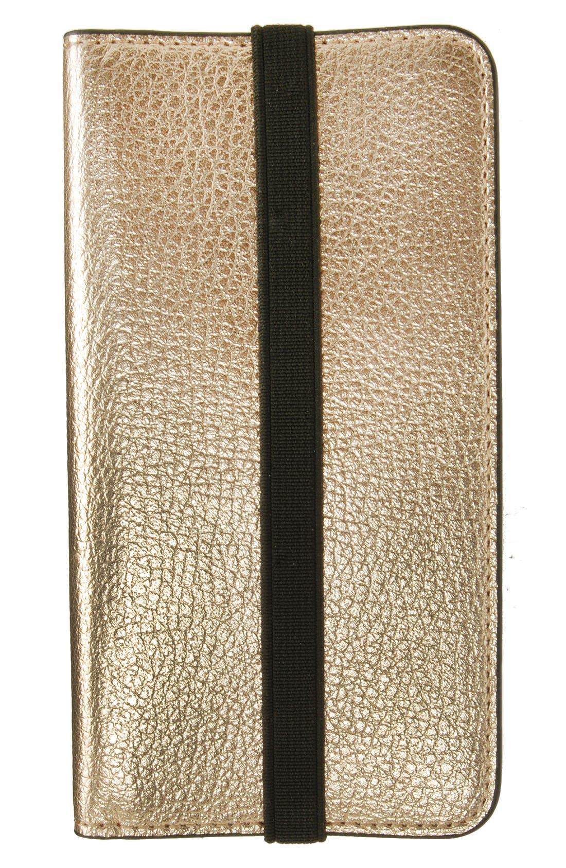 Mobileluxe iPhone 6/6s Metallic Leather Wallet Case