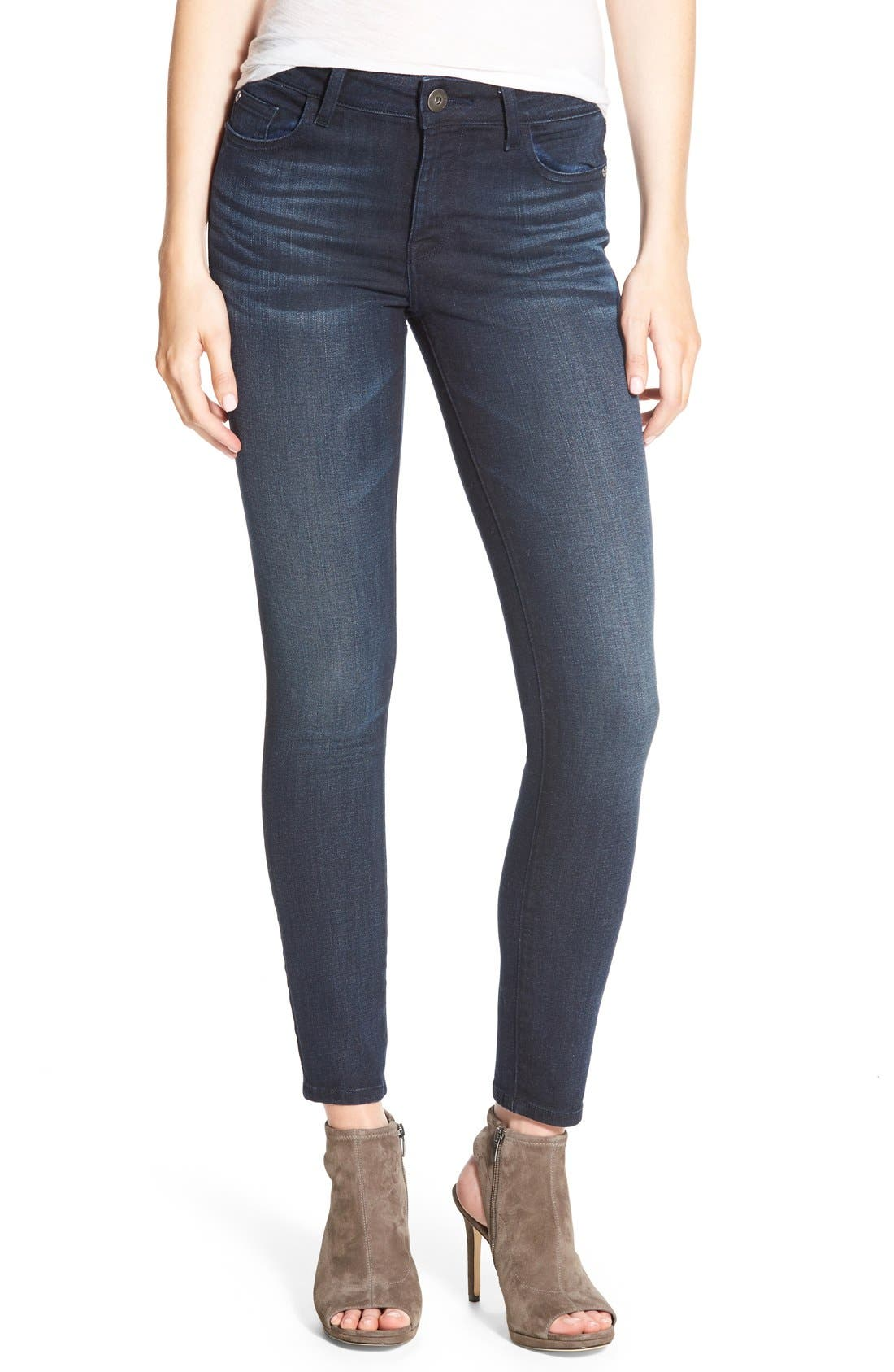Alternate Image 1 Selected - DL1961 Margaux Instasculpt Ankle Skinny Jeans (Canyon)
