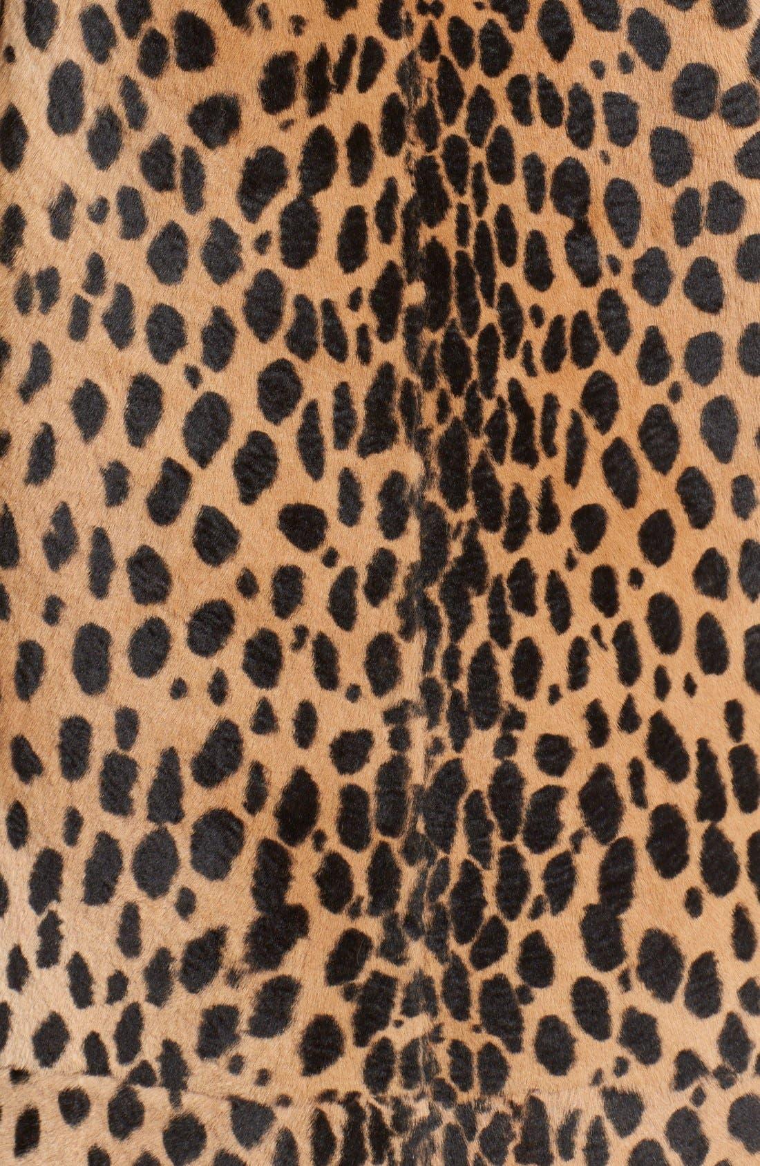 Alternate Image 3  - Alexander Wang Cheetah Print Genuine Kangaroo Fur Coat