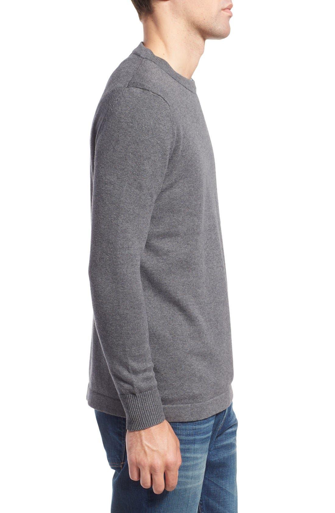 'San Francisco' Crewneck Sweater,                             Alternate thumbnail 3, color,                             Ash