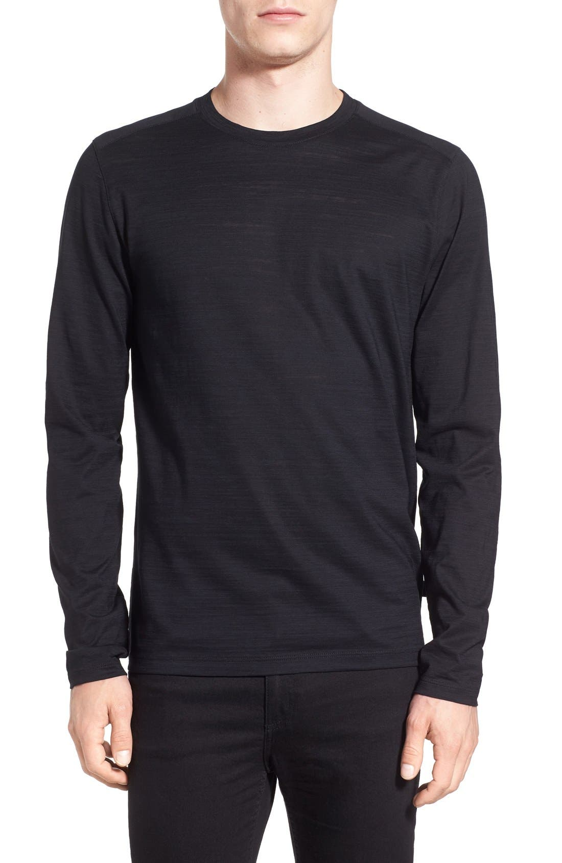 Alternate Image 1 Selected - BOSS 'Tenison' Slim Fit Long Sleeve T-Shirt