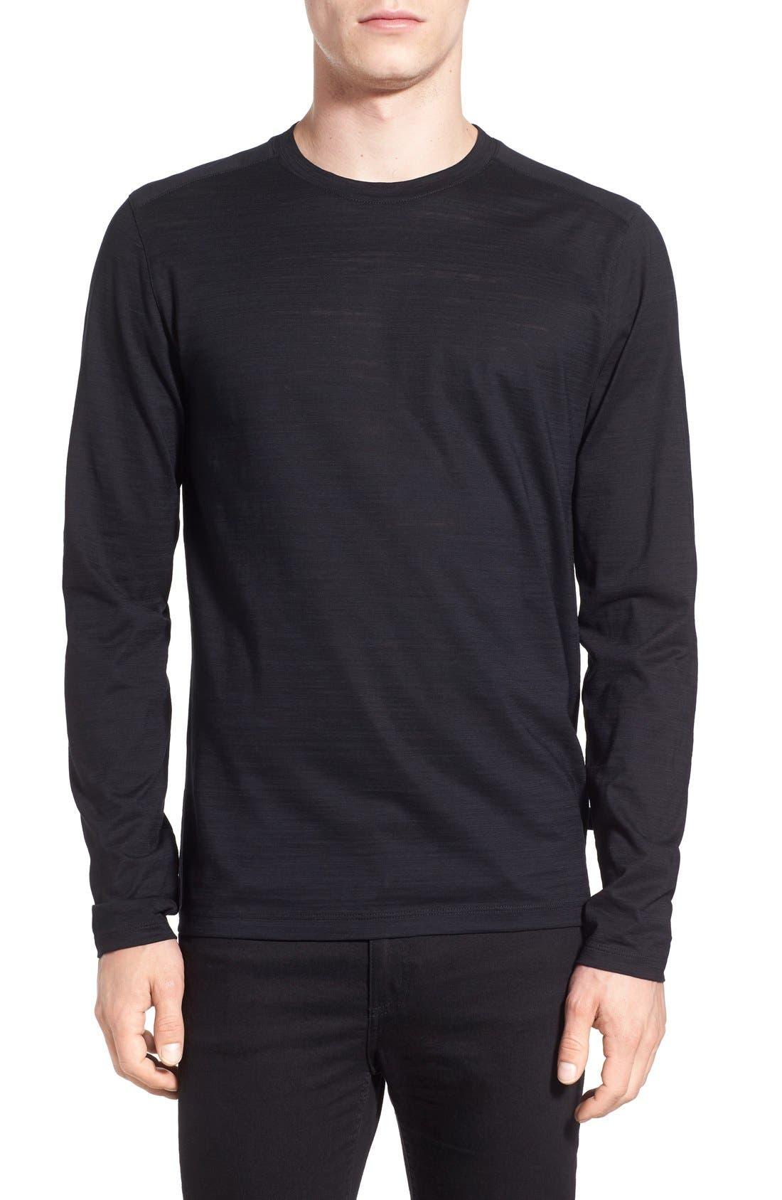 'Tenison' Slim Fit Long Sleeve T-Shirt,                         Main,                         color, Black