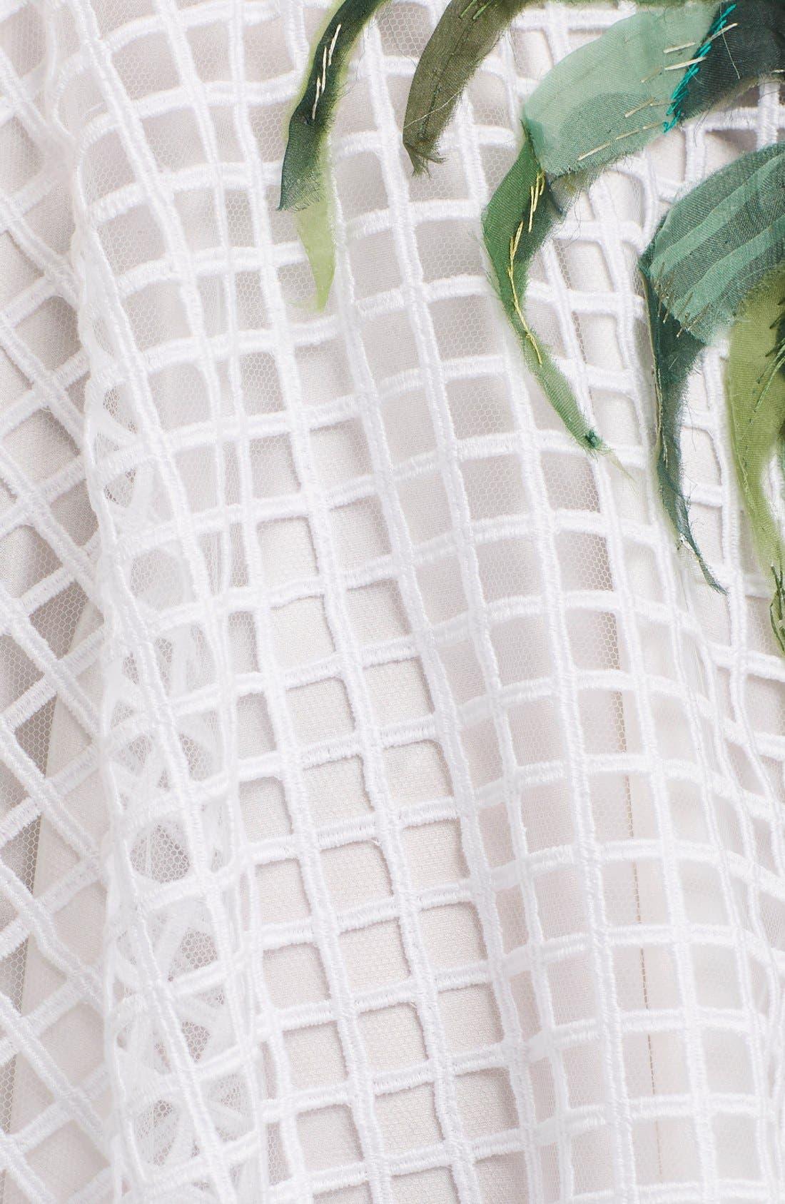Alternate Image 3  - Dolce&Gabbana Banana Leaf Embellished Mesh Lace Dress